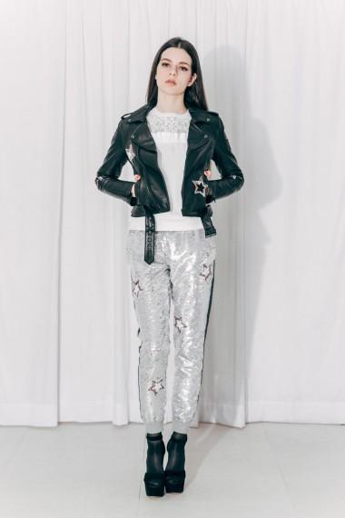 Maddie Leather Jacket & Kristie Sequin Pants