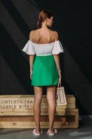 CFP_9197 SS170099 Gwenth Top White Max Skirt