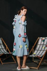 CFP_9496 Safia Dress Blue SS170123