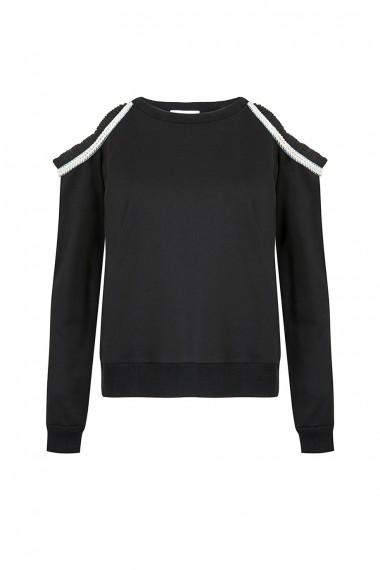 SS18-11144 Vena Sweater Black SS18R070