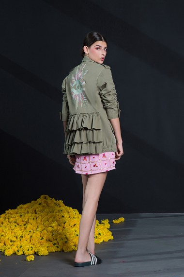 SS18-9129 Mickey Cargo Jacket Mimi Dress SS18R058