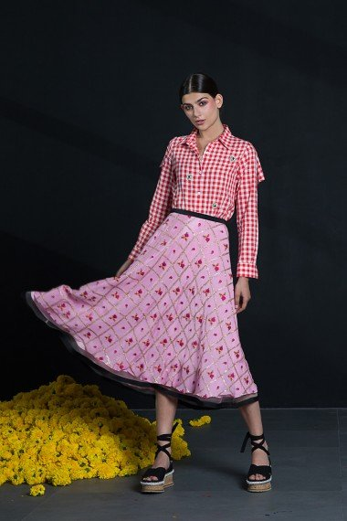 SS18-9460 SS18R087 Priscilla Skirt SS18R093 Gloria Shirt