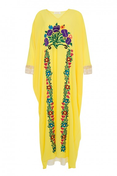 April-1612 dai kaftan yello SS18M076