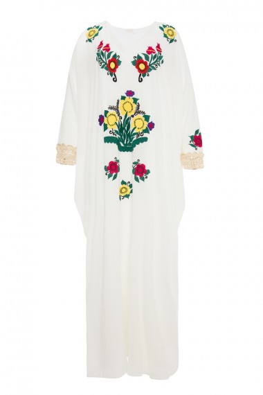 April-1618 dai kaftan white SS18M077