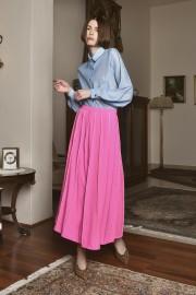ZLabel2018Jan9080 Louise Skirt PF180056 Lotus Blue Shirt PF180035